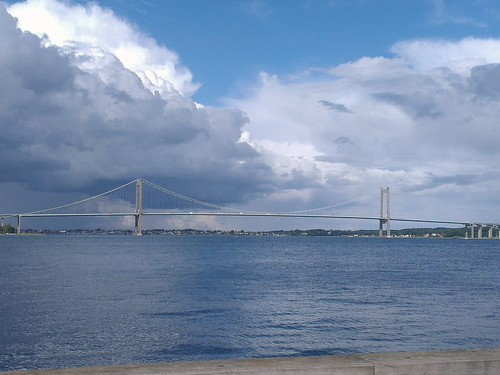 bridge blue silver skyscape denmark heaven skies fyn middelfart littlebelt