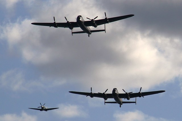 Bring Back an Oldie - 23 Aug 2016 - Canon EOS 60D - Spitfire and Lancasters at the Dawlish Airshow