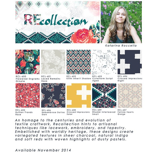 "So happy to present you the ""Deep winterwoven"" palette of my #recollection #recollectionfabrics #agfcomingsoon #artgalleryfabrics"