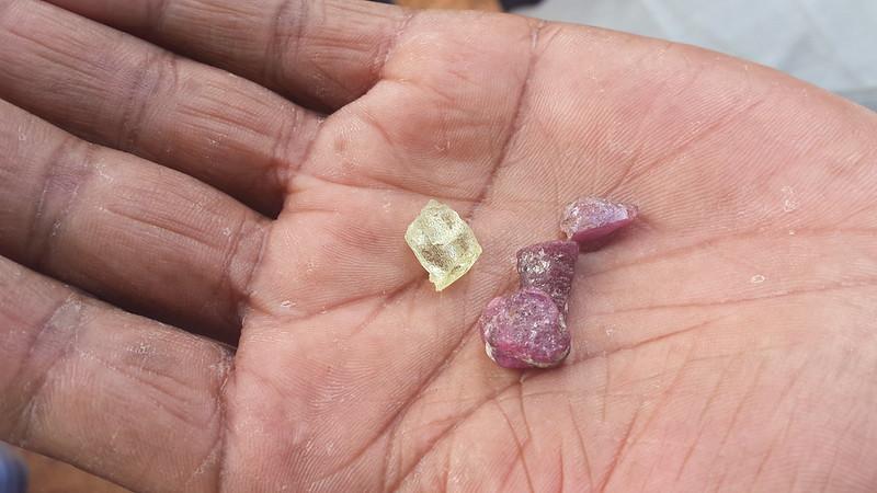 Uncut gemstones