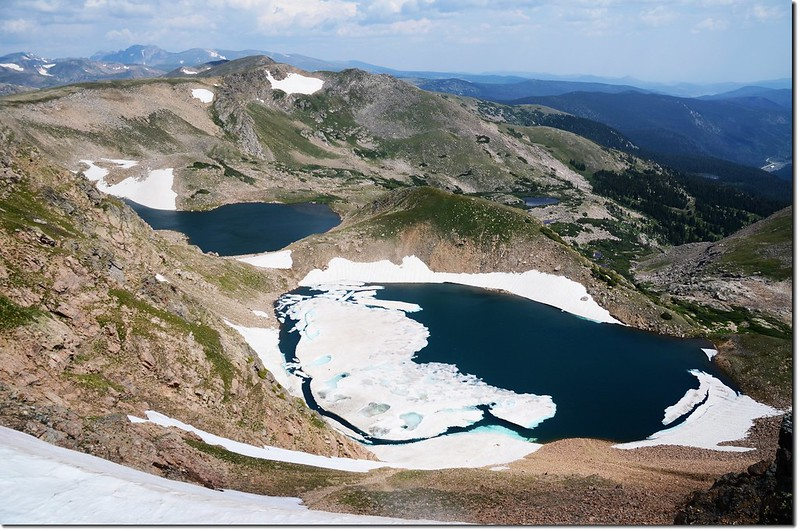 Overlook Iceberg Lakes from Continental Divide 1