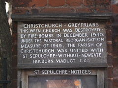 This Wren church was destroyed by fire bombs