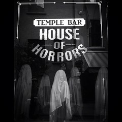 My favorite shop window of the day. #dublin #igersdublin #houseofhorrors #ghosts