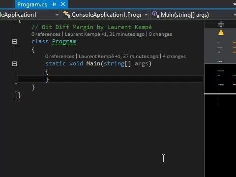 Git Diff Margin features demo