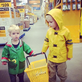 Awesome helpers on my trip to Rona tonight.