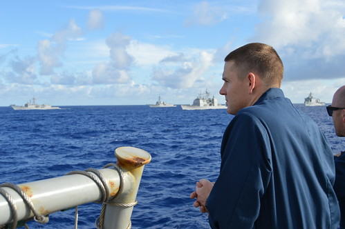 SAN DIEGO—The officers and crew of the guided missile cruiser USS Lake Champlain (CG 57) returned home this weekend after participating in RIMPAC 2014, the world's largest multi-national naval exercise.