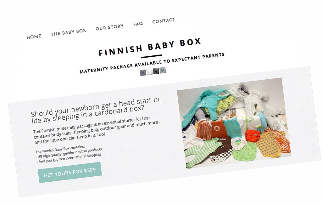 The website that sells the Finnish baby box