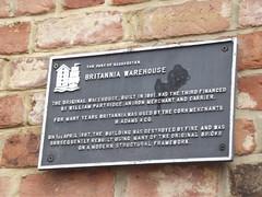 Photo of Britannia Warehouse, Gloucester, William Partridge, and Henry Adams black plaque