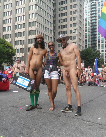 Public nude ina parade remarkable, the