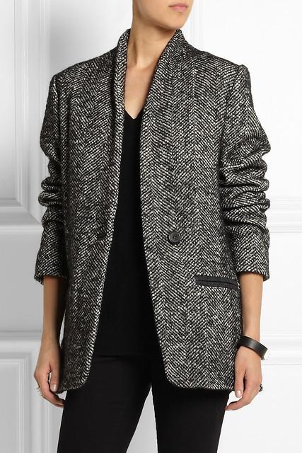 Etoile isabel marant denver tweed coat