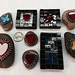 Mosaic rocks and magnets by Fiddlekate (Katie Waller)