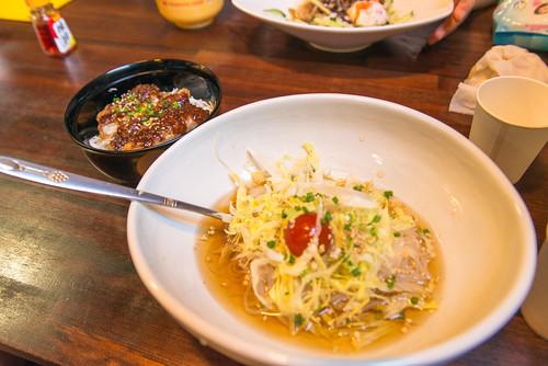 犬山冷麺と味噌カツ