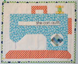 Fantastic mini quilt for me from Cindy