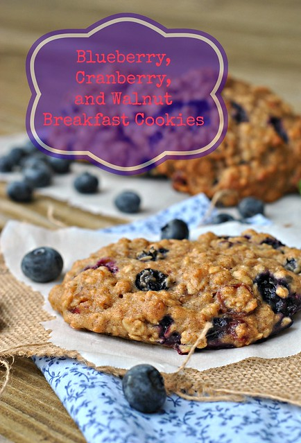 Blueberry, Cranberry, and Walnut Breakfast Cookies 1