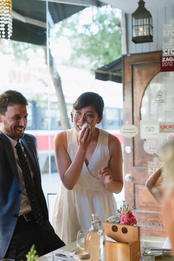 Celine Kim Photography intimate High Park Parkdale restaurant wedding Toronto wedding EM-91