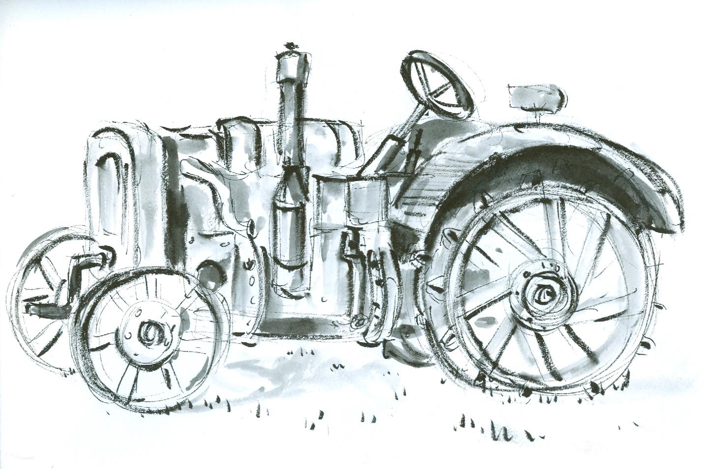 Viejo tractor, Estonia