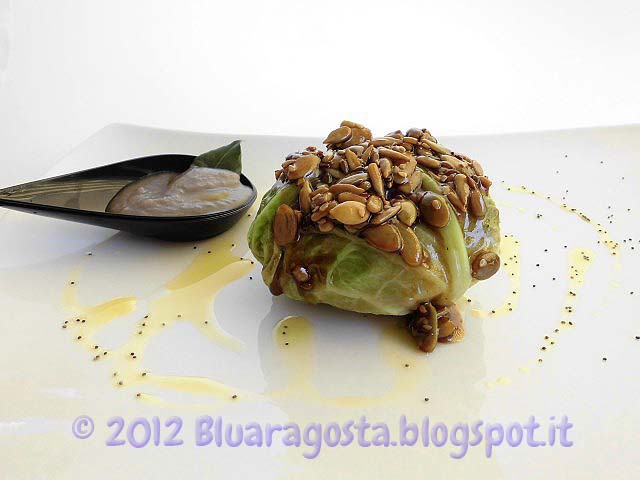 09-fagottino di verza al maiale e mele con semi caramellati