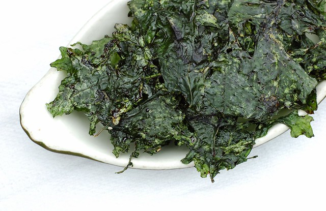 Maple balsamic kale chips by Eve Fox, the Garden of Eating, copyright 2014