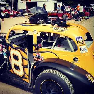 Ready to race #uslegends #8 #BeechRidge #inex #racecar