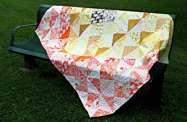 An Autumn Sun Quilt Top