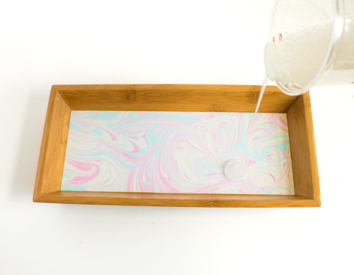 DIY Marbled Paper Lined Tray
