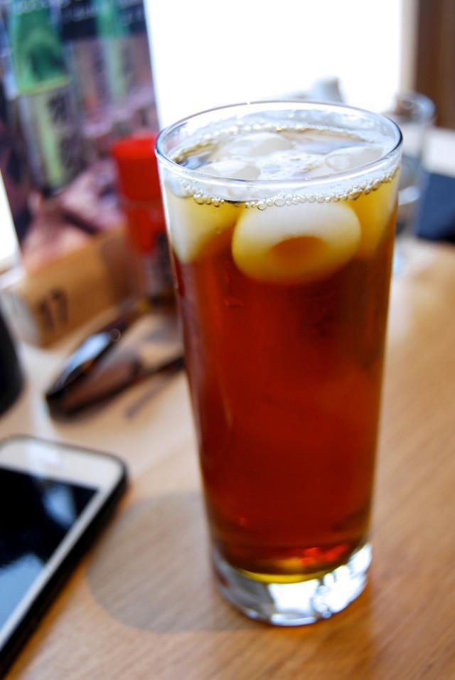 Iced Oolong Tea at Tamago Canterbury