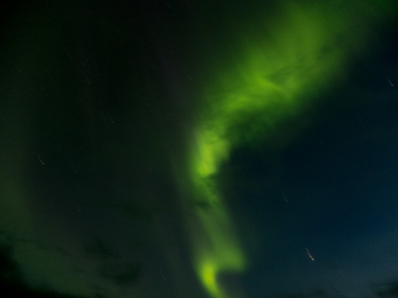 The northern lights (aurora borealis) in Iceland