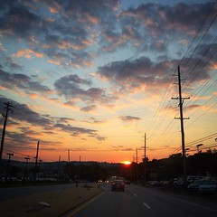 Beautiful #sunrise over Rt 3 on the way to work this morning. #dawn #sky
