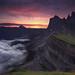 Seceda sunrise by Maximilian Zimmermann