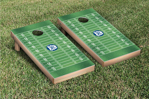Butler University Bulldogs Cornhole Game Set Football Field Version