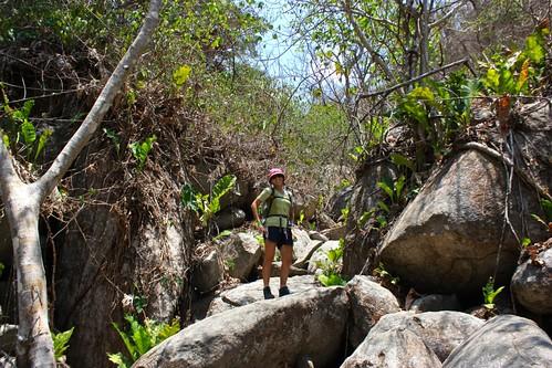rocky climb to Pueblito