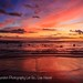Waikiki Red Sunset During the Hawaii Five-O Premier Sunset on the Beach, Oahu, Hawaii