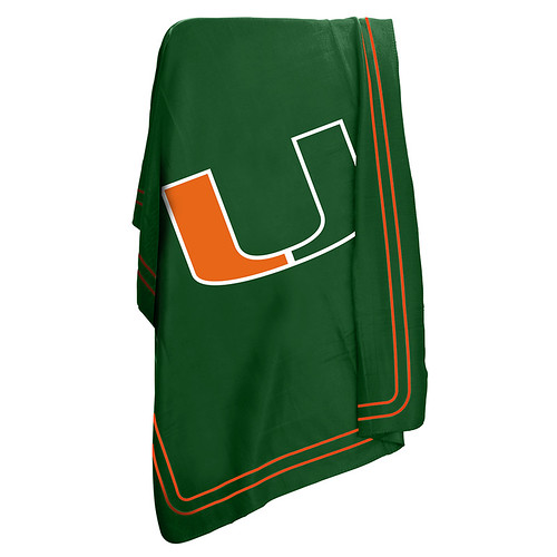 Miami Hurricanes NCAA Classic Fleece Throw