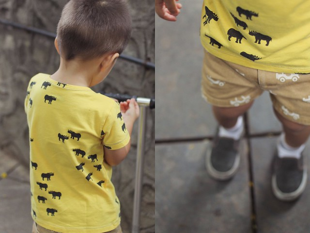 Le Petit Society Yellow Rhino Safari Shirt