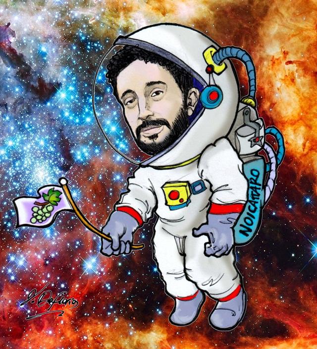 Noicattaro. Vignetta astrofisico Francesco Borracci intero