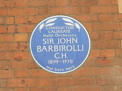 Photo of John Barbirolli blue plaque