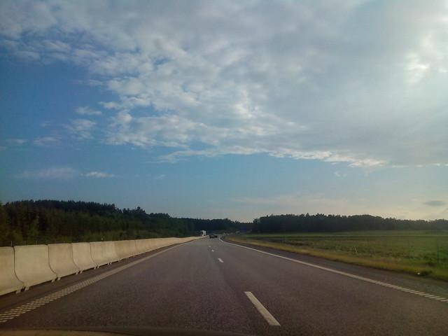 Швеция. Дорога в Мальмё.