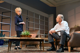 Julia Duffy and Will Lyman in the Huntington Theatre Company production of Todd Kreidler's compelling family comedy GUESS WHO'S COMING TO DINNER directed by David Esbjornson, playing Sept. 5 – Oct. 5, 2014 at the Avenue of the Arts / BU Theatre. Photo: Paul Marotta
