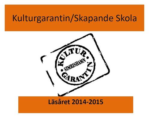 Kulturgarantin läsåret 2014-2015