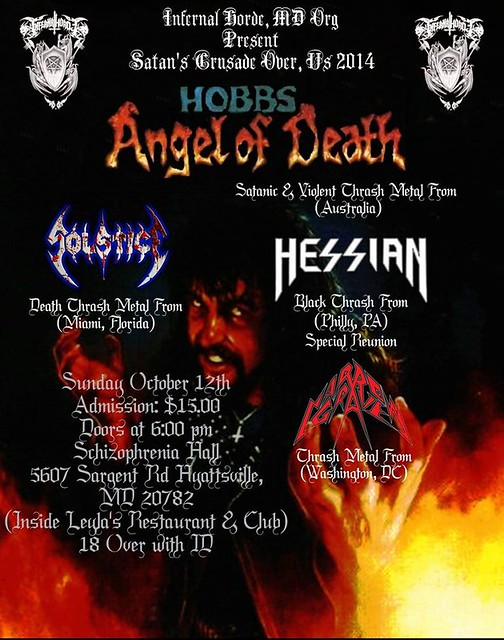 Hobbs' Angel Of Death at Schizophrenia Hall