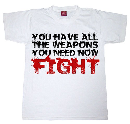 YOU HAVE ALL THE WEAPONS YOU NEED NOW FIGHT - T-SHIRT