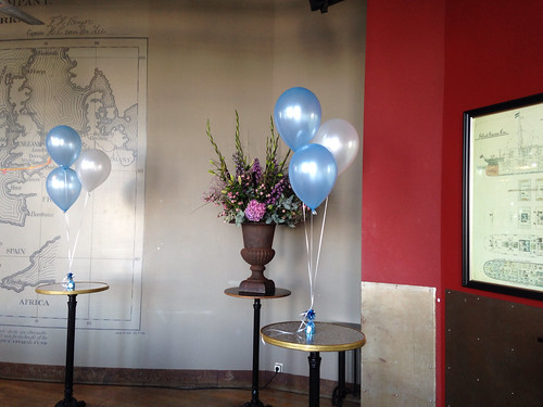 Tafeldecoratie 3ballonnen Hotel New York Rotterdam