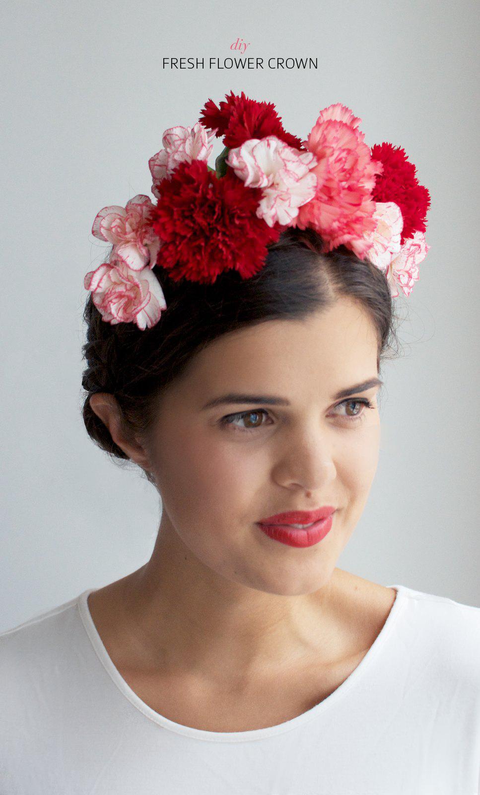 Diy fresh flower crown a pair a spare pin it izmirmasajfo