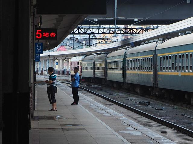 Uno de los trenes que realiza el recorrido del Transmanchuriano a su paso por China