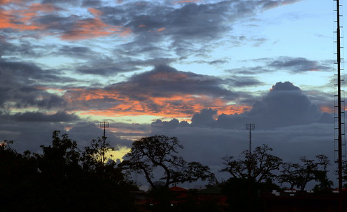 sunset sky evening suriname paramaribo rainville gonggrijpstraat