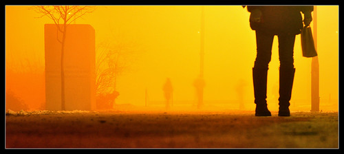 en fog de la sarajevo bosnia going di nebbia niebla andando nella in yendo erzegovina sarajevos dedalomouse