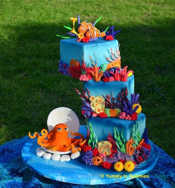 Cake by Sugar Collaboration Lets Find D O R Y