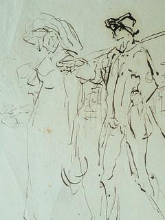 MILLET Jean-François,1850 - Départ pour le Travail, Etude - The Walk to Work  (drawing, dessin, disegno-Louvre RF11191) - Detail 05