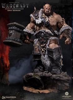 DAMTOYS 魔獸:崛起【奧格林.末日鎚】WARCRAFT Orgrim Doomhammer 全身雕像作品 DMLW02