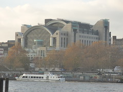 River Thames from the South Bank in London - Embankment Place
